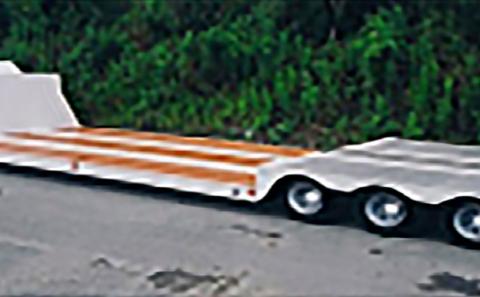 3軸12輪(グース油圧エアサス昇降付)トレーラ